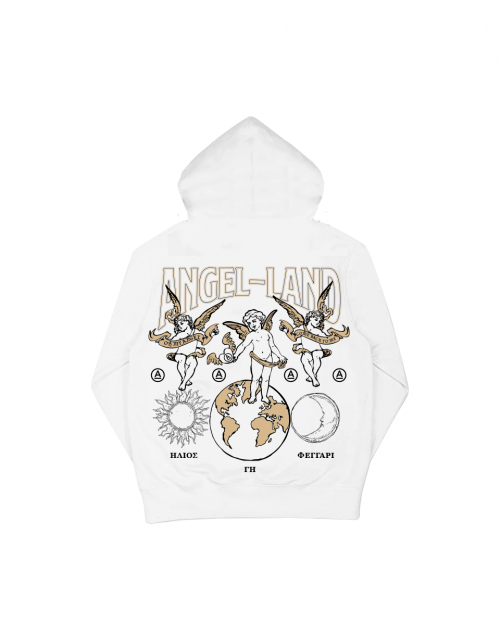 EARTH-SUN&MOON HOODIE - WHITE