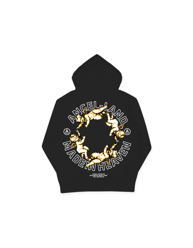 THE FOUR HOODIE- BLACK