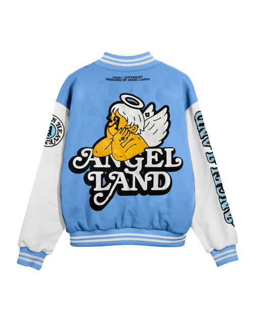 ANGEL-BABY VARSITY JACKET - BLUE